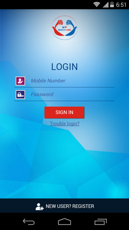 Maruti Care App Login