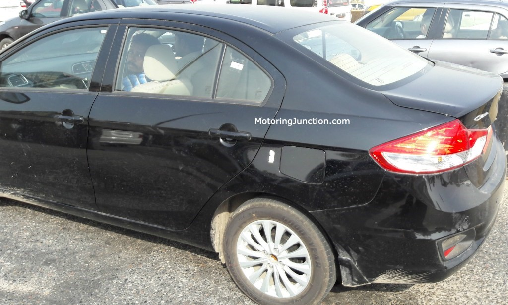 Maruti Ciaz Facelift Side Spotted