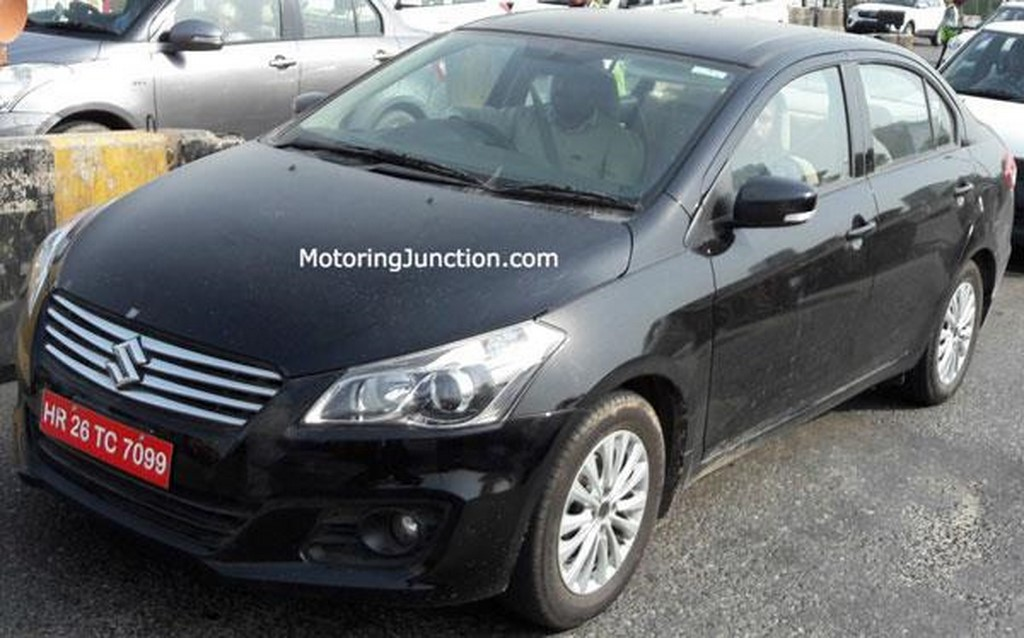 Maruti Ciaz Facelift Spotted