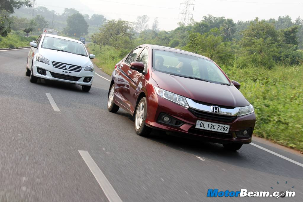 Maruti suzuki ciaz vs honda city shootout auto for Motor city road test