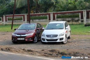Maruti Ciaz vs Honda City Shootout