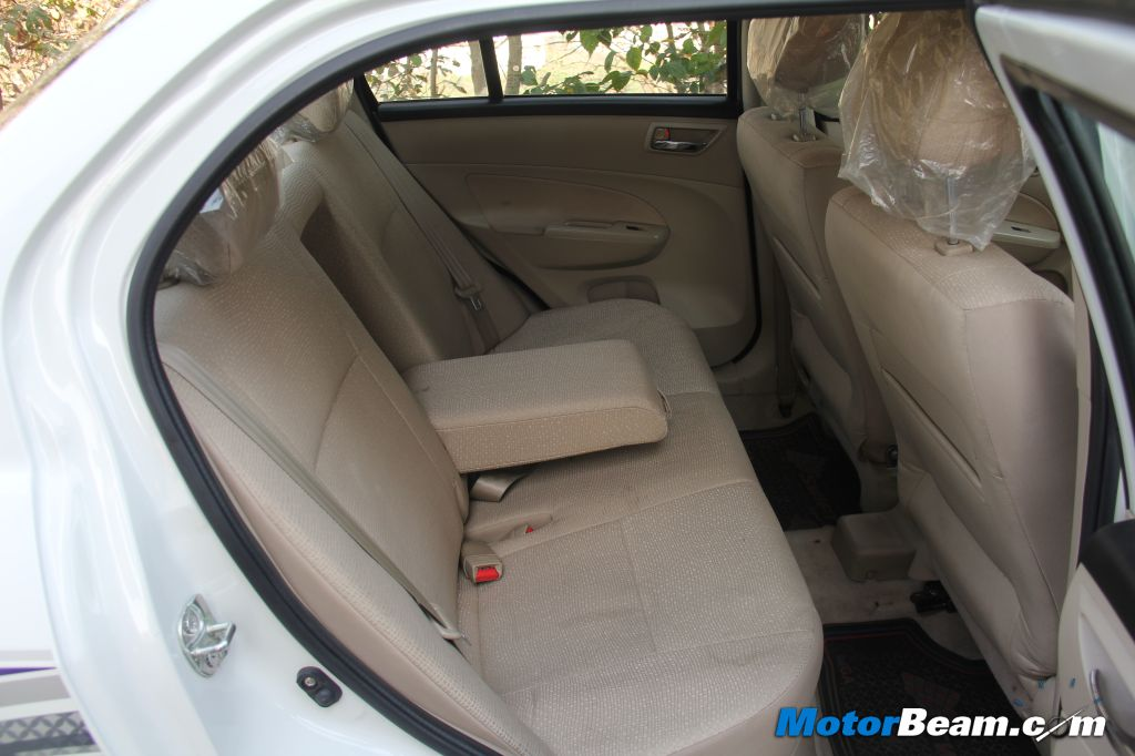 Maruti DZire Rear Seat Legroom