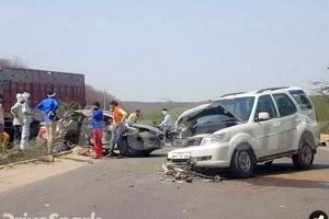 Maruti DZire and Tata Storme Accident