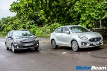 Maruti Dzire vs Honda Amaze Video Shootout