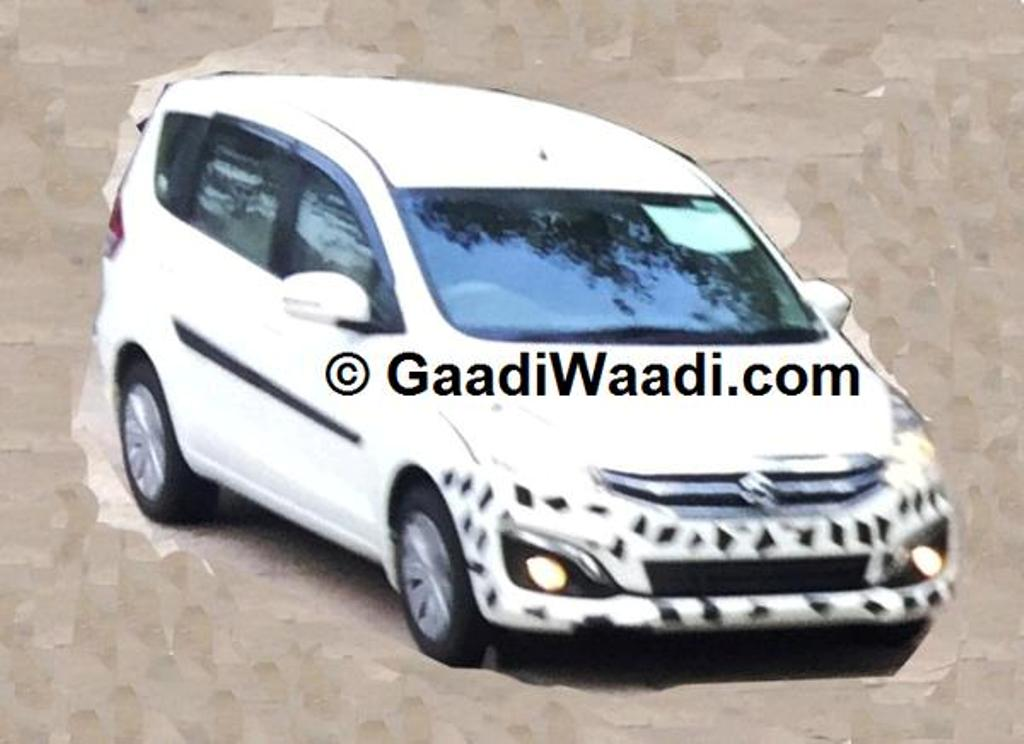 Maruti Ertiga Facelift Spy Shot