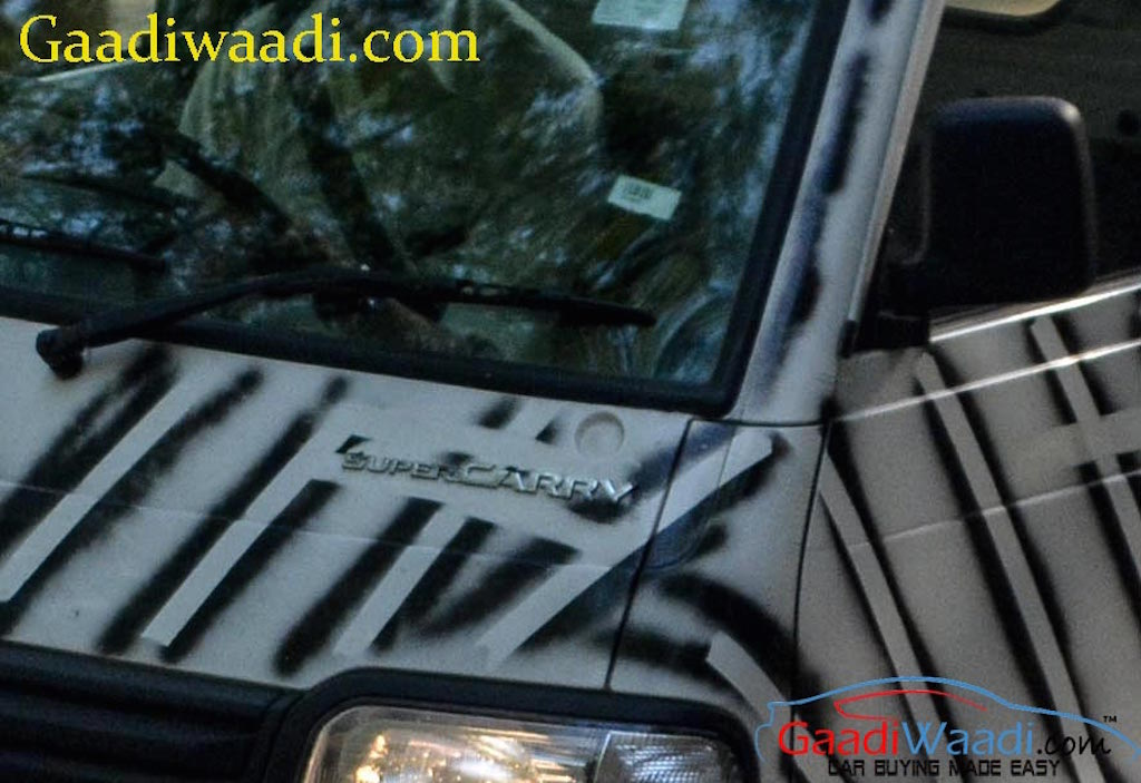 Maruti Super Carry Badge Spy Shot