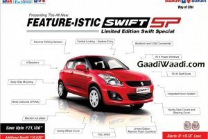 Maruti Swift SP Limited Edition Features Leaked