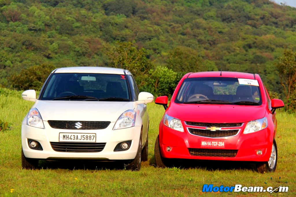 Maruti Swift vs Chevrolet Sail Shootout