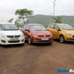 Maruti Swift vs Volkswagen Polo vs Fiat Punto Evo