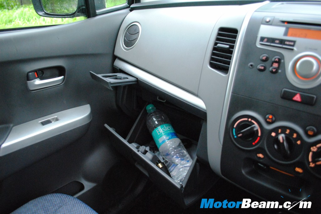 Cup Holder and Glove Box