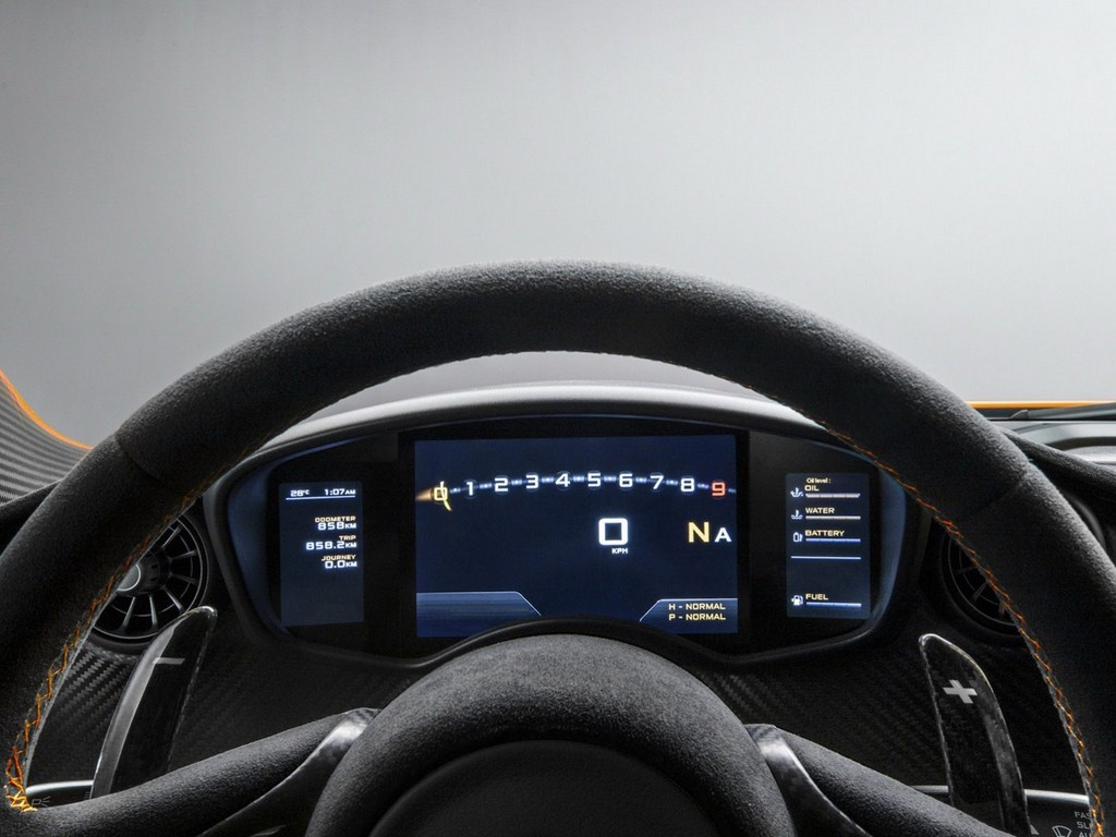 McLaren P1 Production Model Speedo