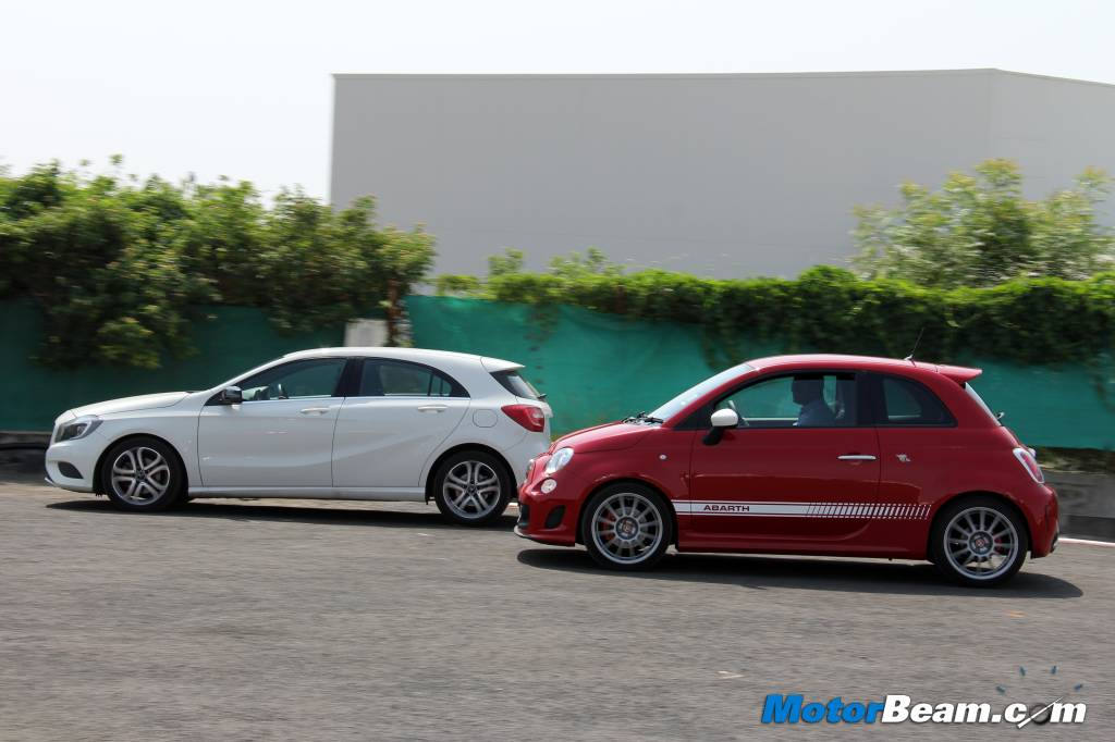Mercedes A-Class vs Fiat 500 Abarth Performance