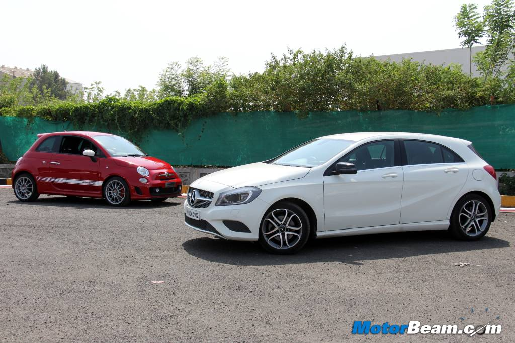 Mercedes A-Class vs Fiat 500 Abarth Review