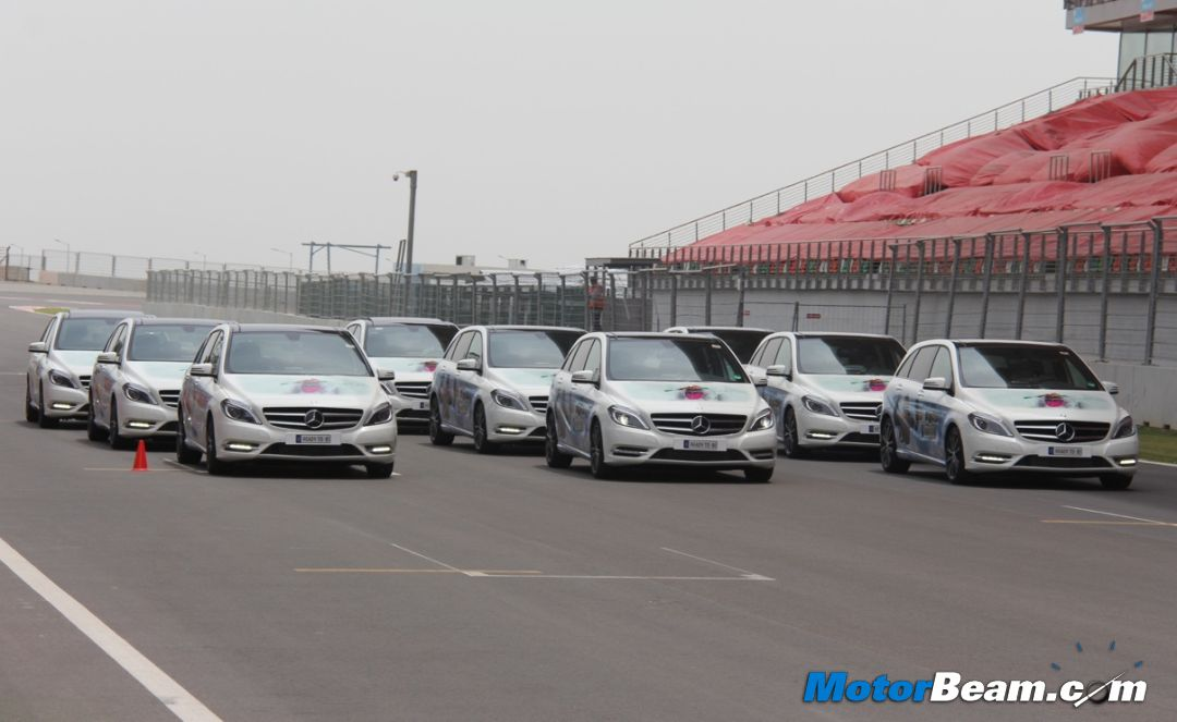 Mercedes B-Class On Track
