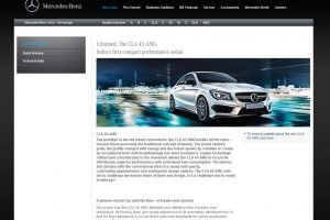 Mercedes CLA45 AMG Website