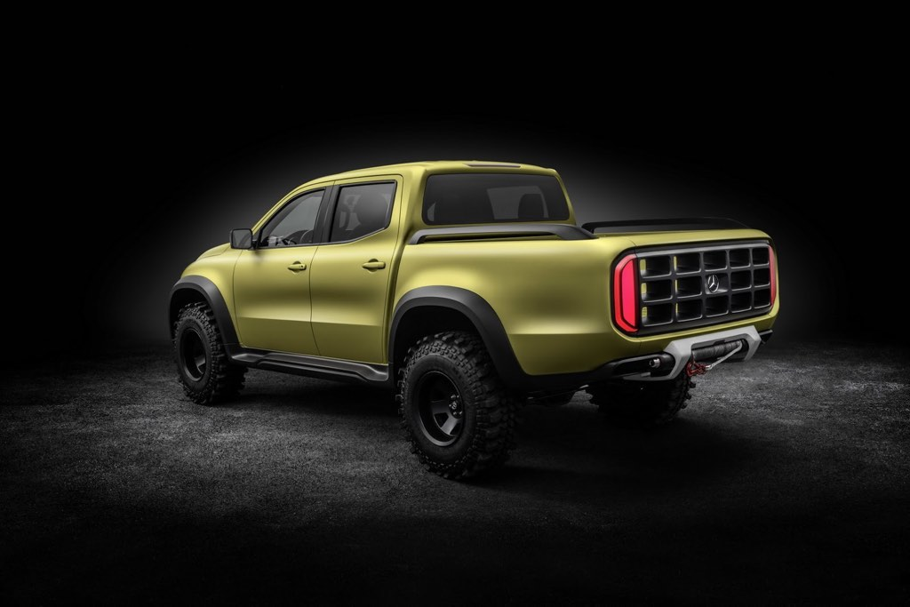 Mercedes x class pickup concept revealed motorbeam