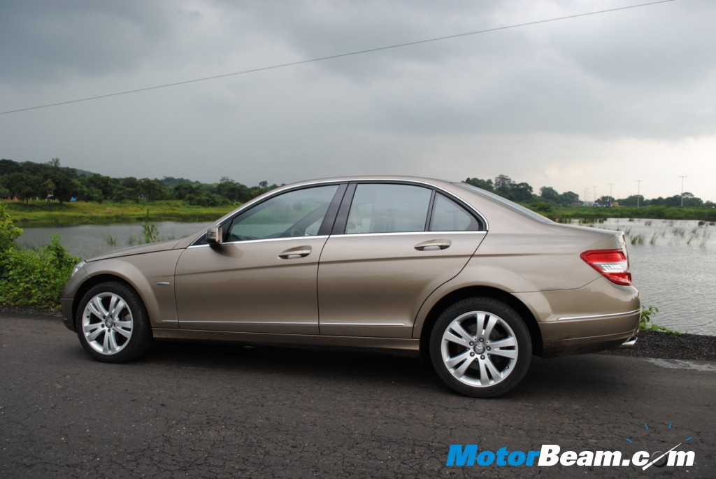 Mercedes C200 CGI Side Profile