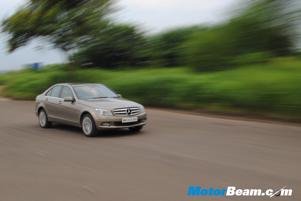 Mercedes C200 CGI in motion