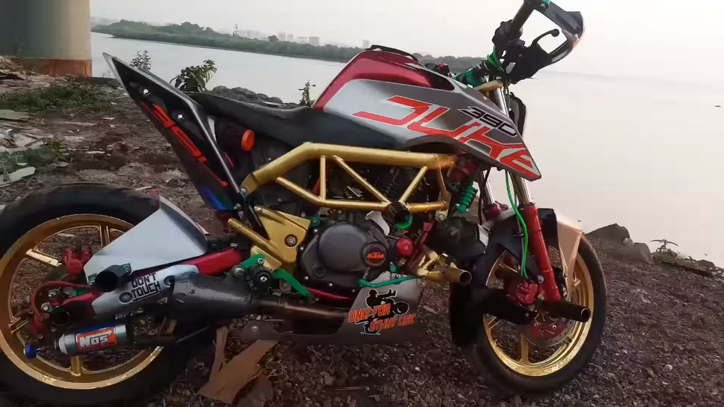 Bajaj Pulsar 220 Modified Into KTM 390 Duke