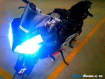 Modified Pulsar Twin Headlights