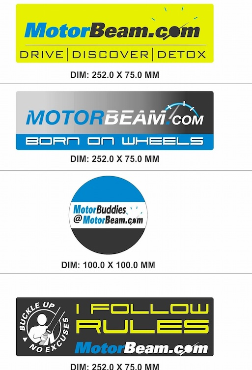MotorBeam Stickers For Cars