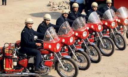 Motorcycle firebrigade fleet