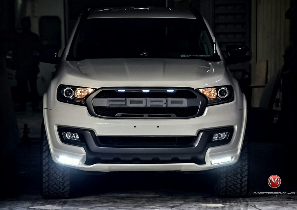 Ford Endeavour Modified To Look Like F 150 Raptor Motorbeam
