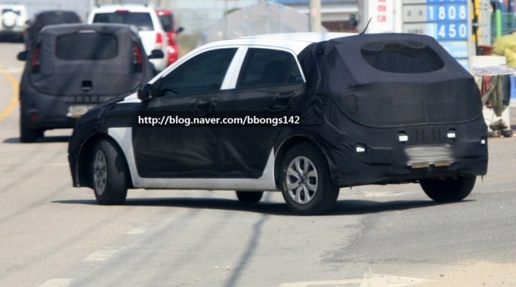 Next Gen Hyundai i20 Spied Rear Profile