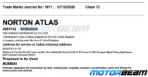 Norton Motorcycles Atlas Trademark