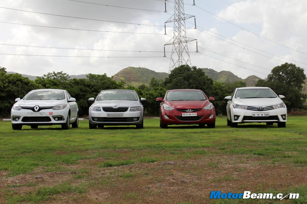 Octavia vs Corolla vs Elantra vs Fluence Review
