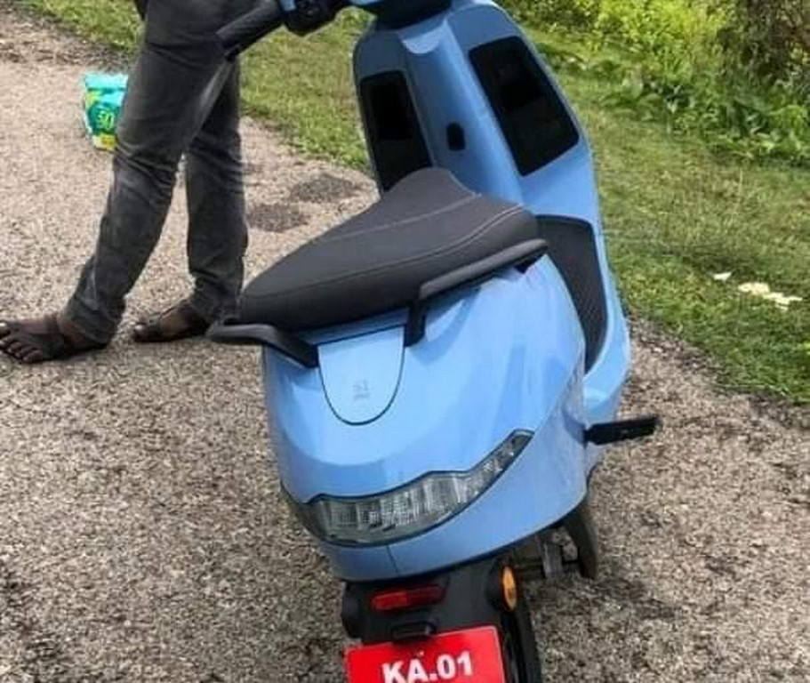 Ola Electric Scooter Spied Rear