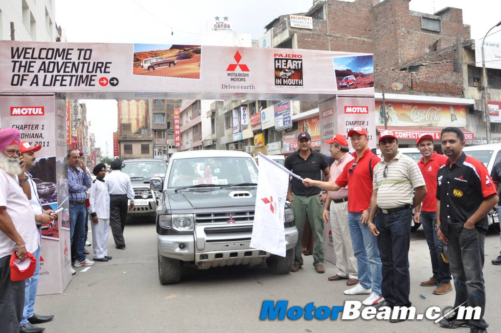 Pajero Heart In Mouth Rally