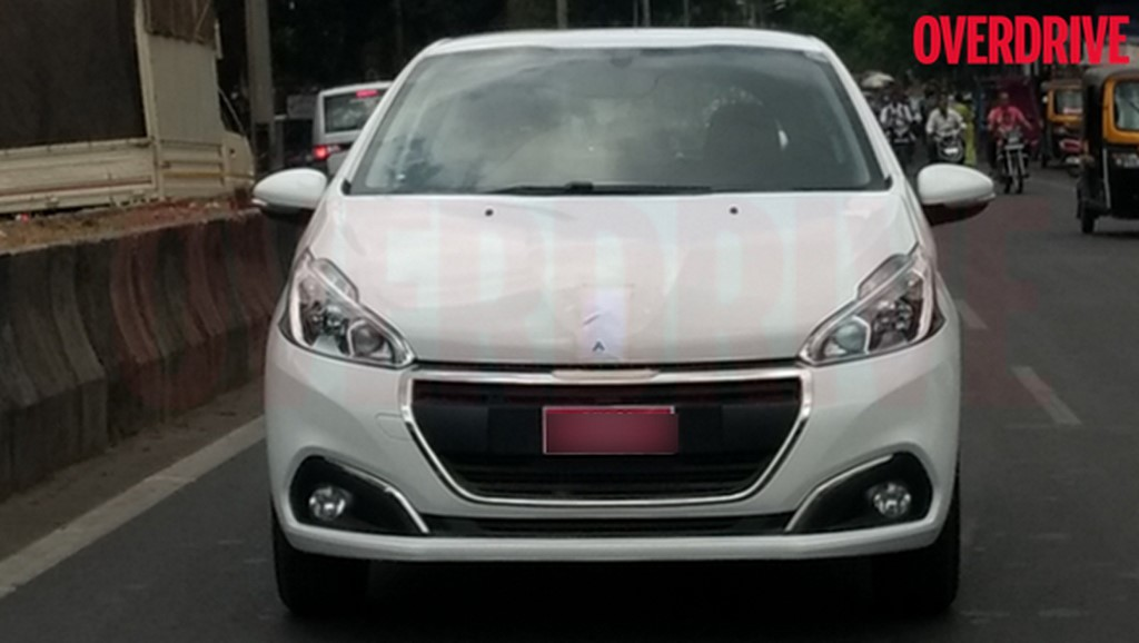 Peugeot 208 Spied In India