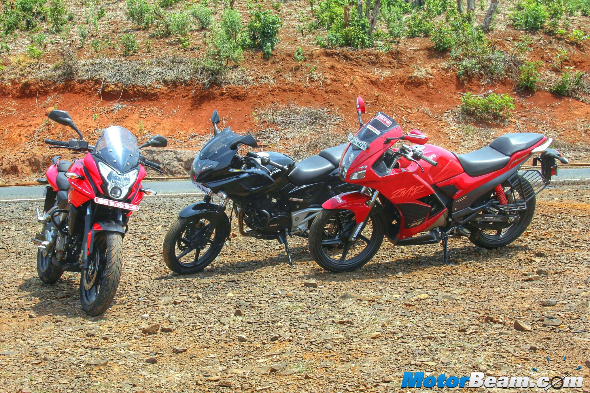 Pulsar 220 vs Pulsar AS 200 vs Hero Karizma Shootout