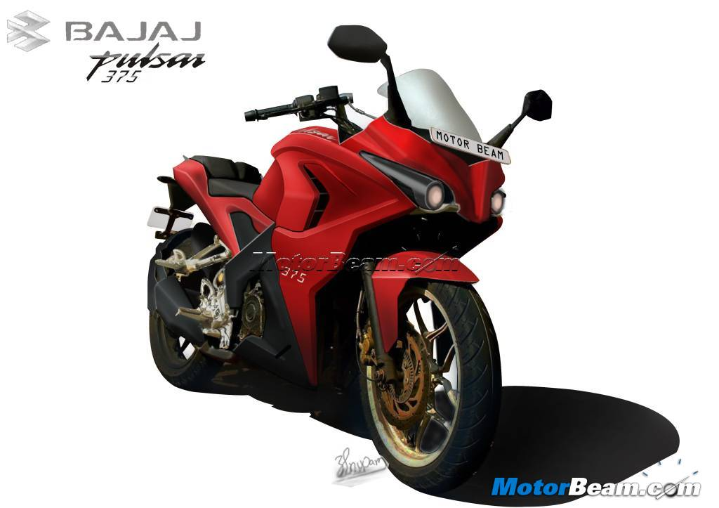 Bajaj Pulsar 375 To Feature Daytime Running LED Lights