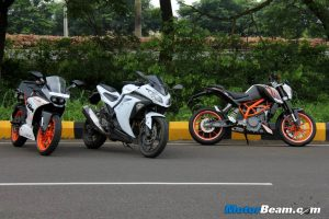 RC 390 vs Kawasaki Ninja 300 vs Duke 390