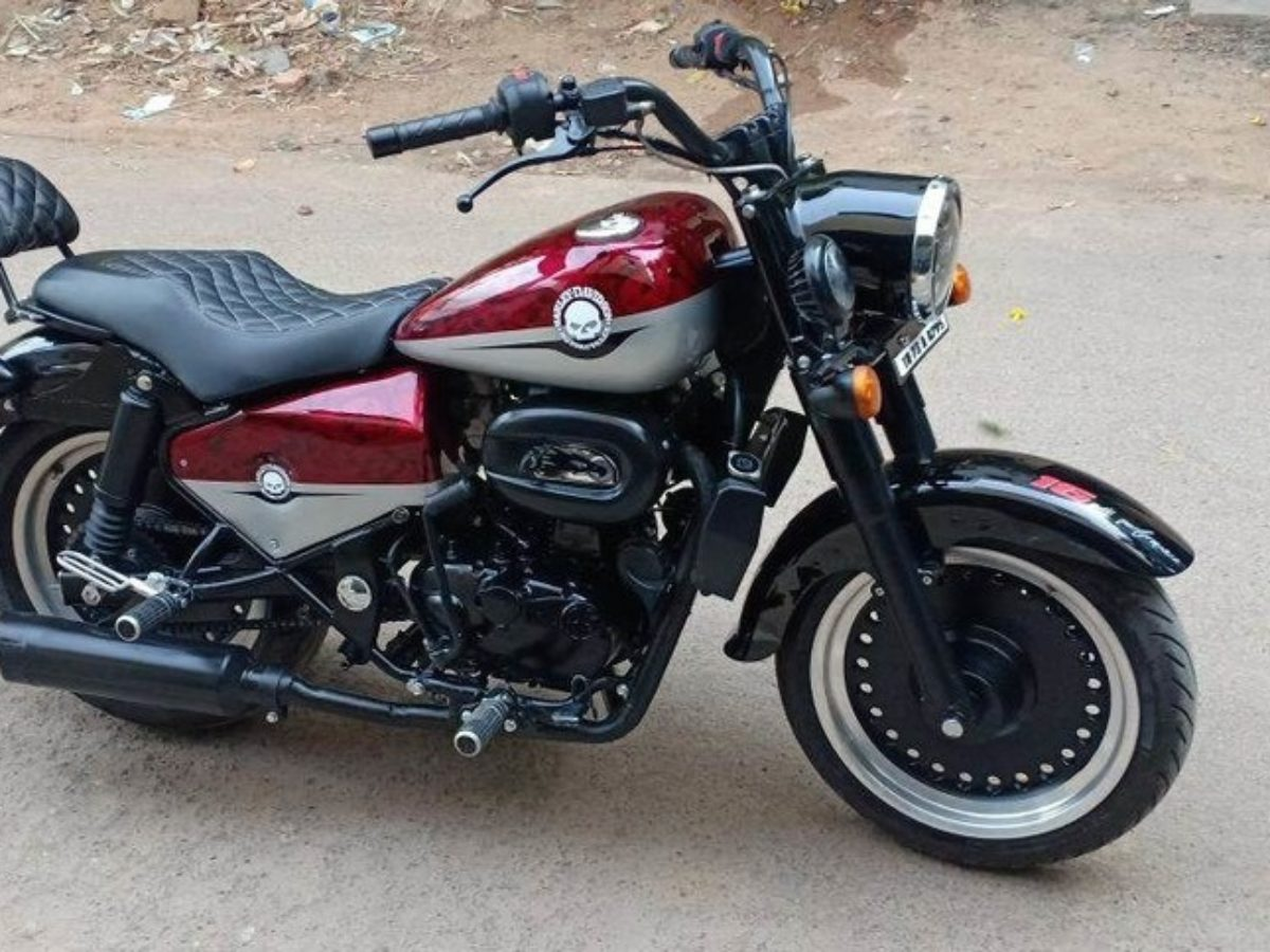 Re Classic 350 Modified To Look Like Harley Davidson Fat Boy Motorbeam