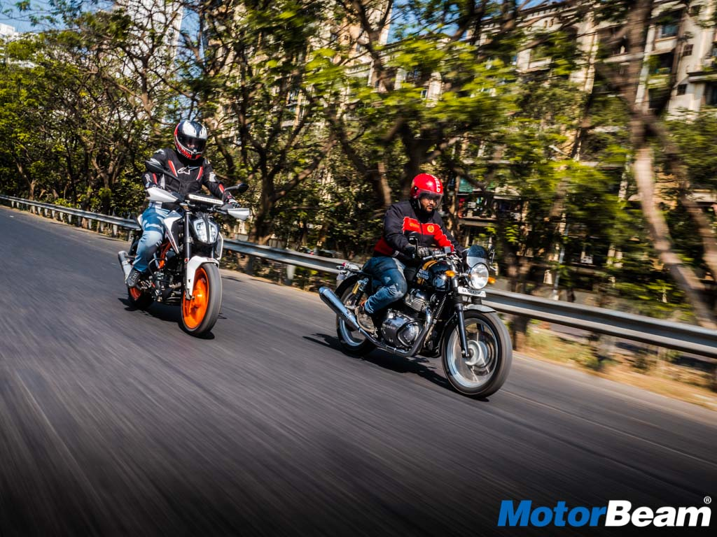 RE Continental GT 650 vs KTM Duke 390