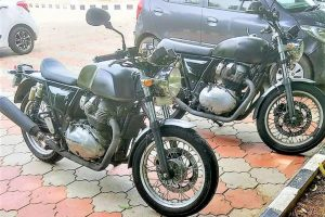 RE Twin-Cylinder Bike Spotted In 2 Avatars