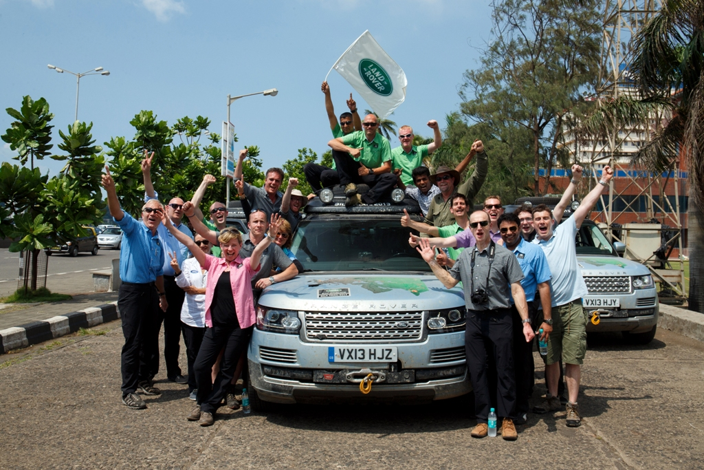 Range Rover Silk Trail Arrival India