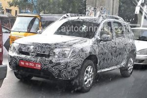 Renault Duster Facelift Spotted India