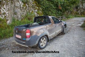 Renault Duster Pickup Spy Shot Romania Rear