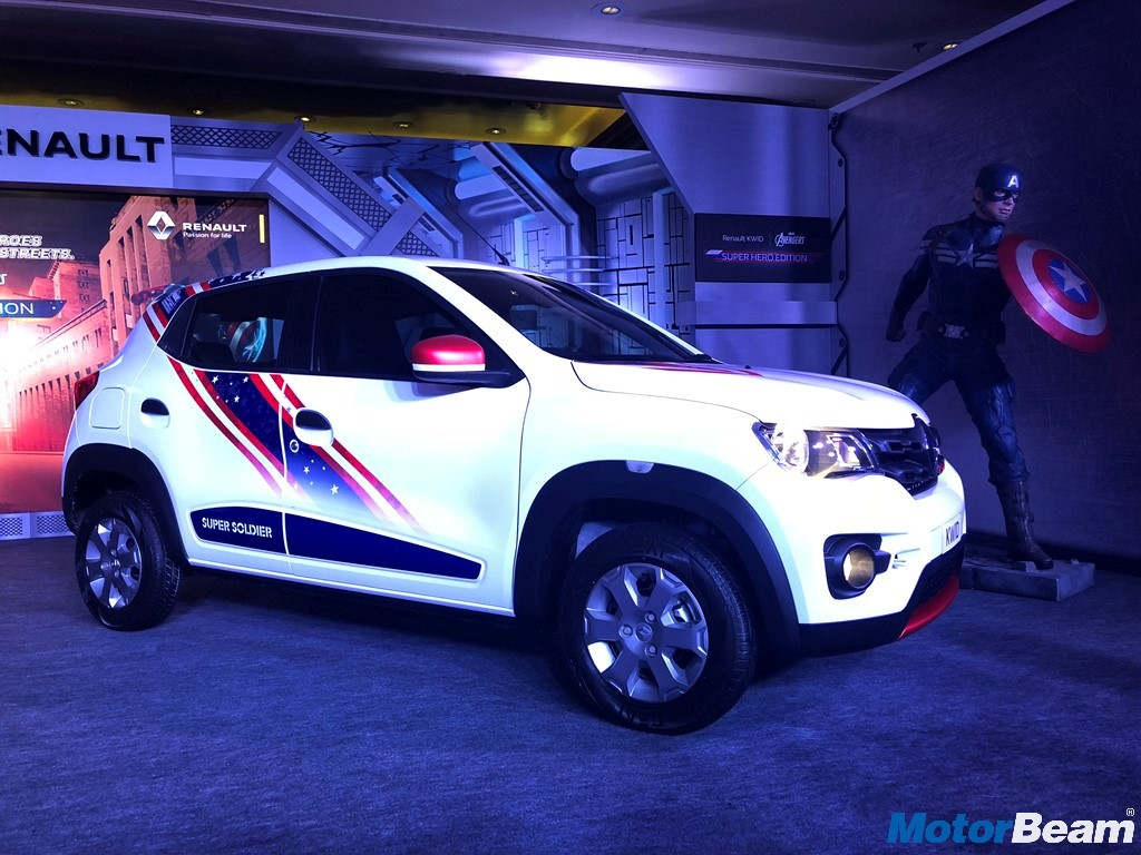 Renault Kwid Captain America Side