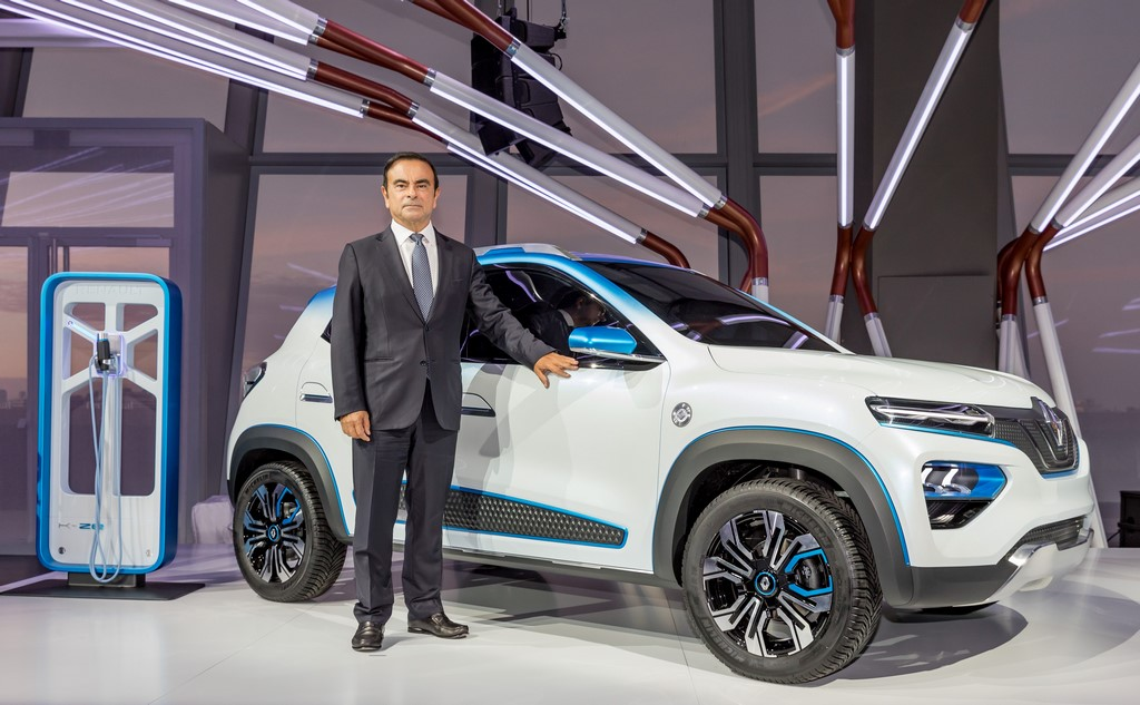 Renault Kwid Electric With Carlos Ghosn