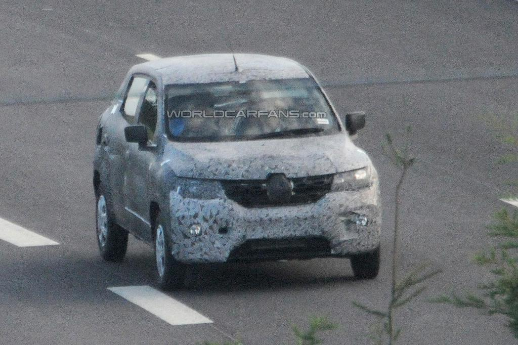 Renault Low Cost Crossover Spied Front