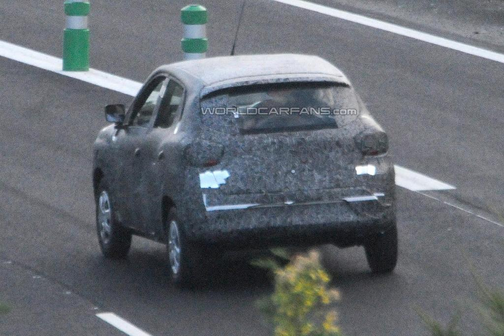 Renault Low Cost Crossover Spied Rear