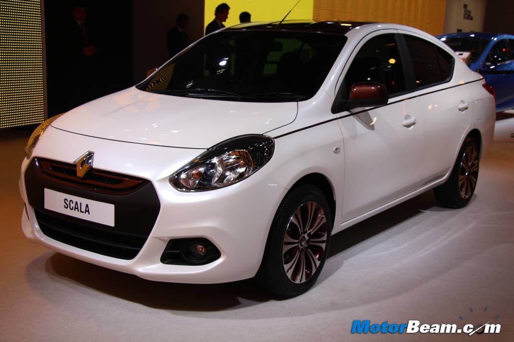 Renault Scala With Cosmetic Modifications Showcased At 2014 Auto Expo