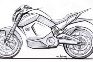 Revolt Electric Bike Sketch