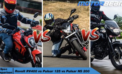 Revolt RV400 vs Bajaj Pulsar 125 vs NS 200 - Spec Comparison Video