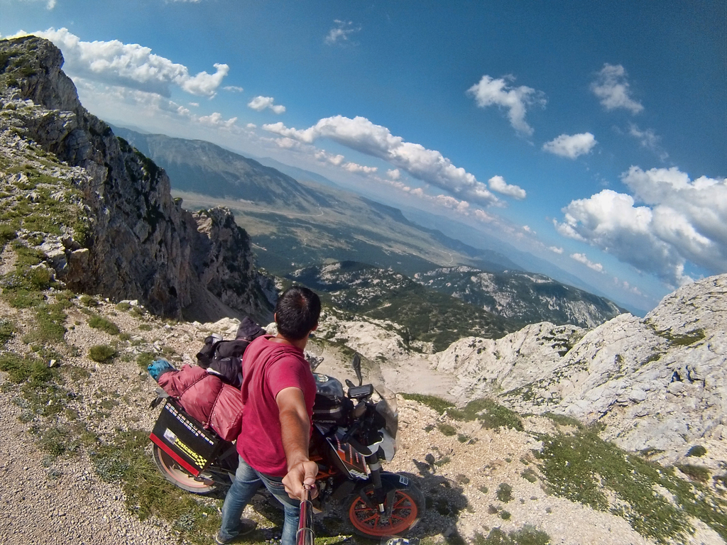 Rohith Takes A Selfie At Albanian Mountains